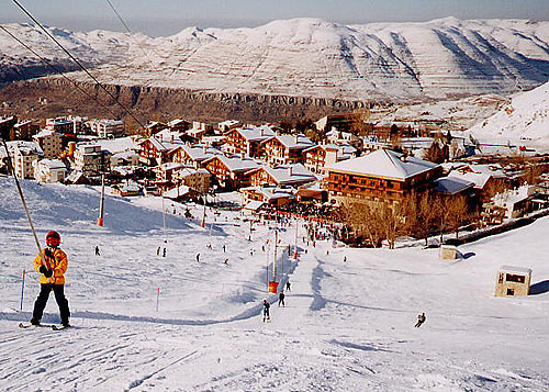InterContinental Mzaar Hotel and Spa Mzaar Kfardebian Lebanon - As seen from the Refuge slopes