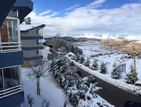 San Jose Chalets Mzaar Kfardebian Lebanon - View from the chalet