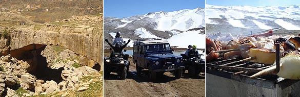 Mountain safari in Lebanon Faraya and Mzaar resort