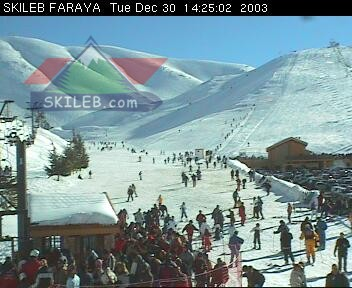 Mzaar Ski Resort Kfardebian Lebanon webcam on 123009 by SKILEB.com