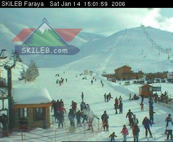 Mzaar Ski Resort Kfardebian Lebanon webcam on 01141415 by SKILEB.com