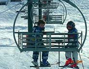 Kids on the chairlift of wardeh - faraya