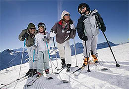Ski lessons in Faraya