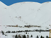 Cedars ski slopes in Lebanon