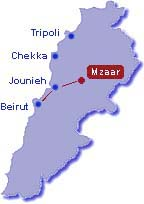 Directions to Faraya then Mzaar ski resort Lebanon