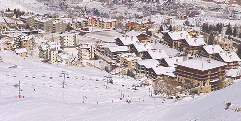 Mzaar ski resort previously known as Faraya Mzaar- InterContinental Mzaar hotel
