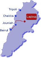 Driving directions to Laklouk ski resort Lebanon by SKILEB.com