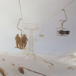 Strong winds in Faraya Mazar ski resort