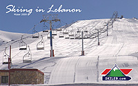"Ski Lebanon ""Baby 1 in Mzaar"" wallpaper by SKILEB.com"